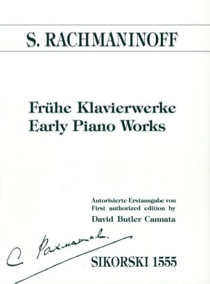 Sergei Rachmaninov - Frühe Klavierwerke - Partition - di-arezzo.fr