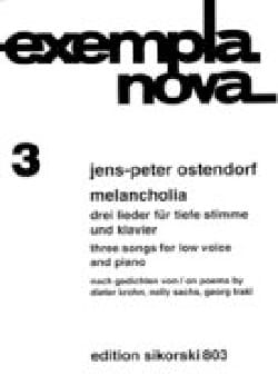Melancholia - Jens P Ostendorf - Partition - laflutedepan.com