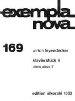 Klavierstück V - Ulrich Leyendecker - Partition - laflutedepan.com
