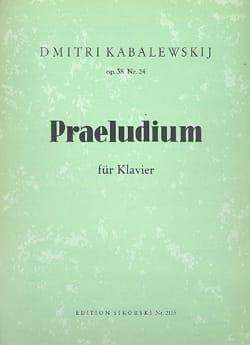 Dimitri Kabalevsky - Prélude pour piano Op. 38-24 - Partition - di-arezzo.fr