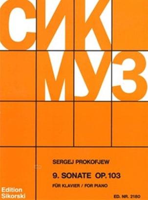 Sonate pour piano n° 9 Opus 103 - Sergei Prokofiev - laflutedepan.com