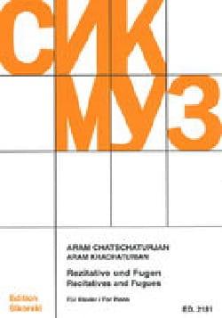 Aram Khatchaturian - Rezitative und Fugen für Klavier - Partition - di-arezzo.fr