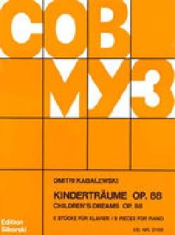 Dimitri Kabalevsky - Kinderträume Op. 88 - Partition - di-arezzo.fr