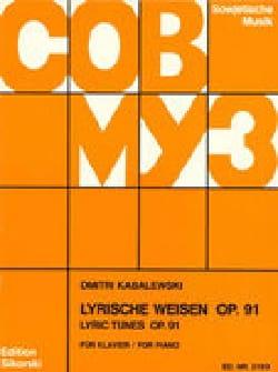 Dimitri Kabalevsky - Lyrische Weisen Für Klavier Op. 91 - Partition - di-arezzo.fr
