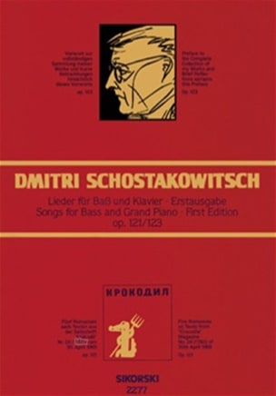 Dimitri Chostakovitch - 5 Romanzen Op. 121 et Vorwort Op. 123 - Partition - di-arezzo.fr