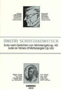 Dimitri Chostakovitch - Suite On Verses Of Michelangelo Opus 145 - Partition - di-arezzo.fr