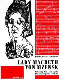 Lady Macbeth Von Mzensk CHOSTAKOVITCH Partition Opéras - laflutedepan