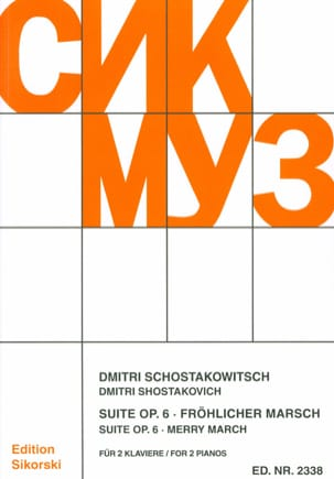 Suite Opus 6 / Frohlicher March. 2 Pianos CHOSTAKOVITCH laflutedepan