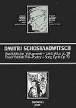 CHOSTAKOVITCH - Aus Jiddischer Volkspoesie Opus 79 - Sheet Music - di-arezzo.com