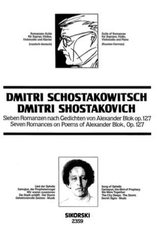 CHOSTAKOVITCH - Romanzen-Suite nach Worten by Alexander Blok - Sheet Music - di-arezzo.co.uk