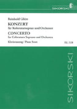 Reinhold Glière - Soprano Colorature Concerto and Orchestra Opus 82 - Sheet Music - di-arezzo.com