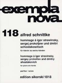 Alfred Schnittke - Hommage an Strawinsky, Prokofjew und Schostakowitsch. 6 Hände - Noten - di-arezzo.de