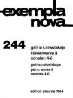 Galina Ustwolskaja - Oeuvres Pour Piano Volume 2 - Partition - di-arezzo.fr