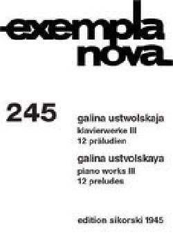 Oeuvres Pour piano Volume 3 - Galina Ustwolskaja - laflutedepan.com