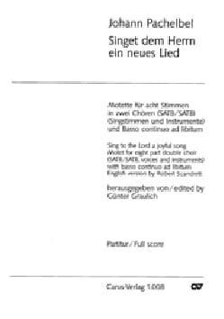 Singet dem Herrn ein neues Lied - Johann Pachelbel - laflutedepan.com
