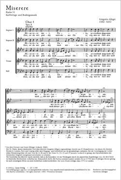 Gregorio Allegri - Miserere - Sheet Music - di-arezzo.com