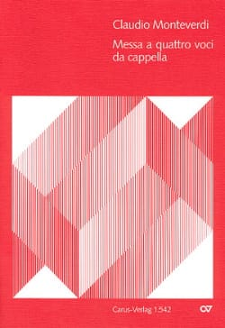Claudio Monteverdi - Messa A 4 Voci Da Cappella - Sheet Music - di-arezzo.co.uk