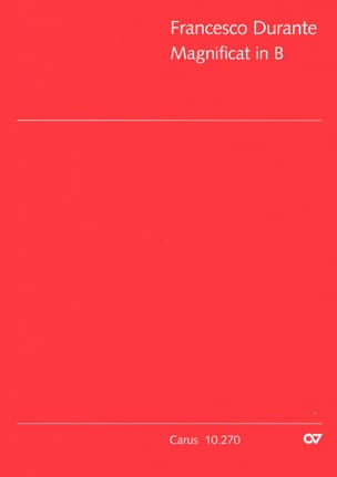 Francesco Durante - Magnificat in B flat - Sheet Music - di-arezzo.co.uk