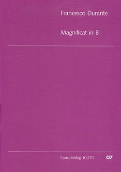 Francesco Durante - Magnificat B flat major. Chorus alone - Sheet Music - di-arezzo.co.uk