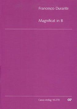 Francesco Durante - Magnificat Si Bémol Majeur. Choeur seul - Partition - di-arezzo.fr