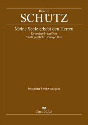 Heinrich Schütz - Magnificat Meine Seele Erhebt Den Herren Swv 426 - Partition - di-arezzo.fr