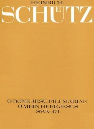 Heinrich Schütz - O bone Jesu, fili Mariae Swv 471 - Sheet Music - di-arezzo.co.uk