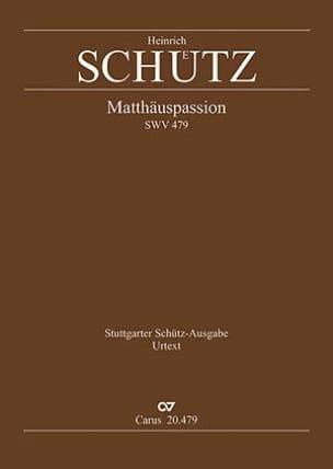 Heinrich Schütz - Matthäuspassion Swv 479 - Partition - di-arezzo.fr