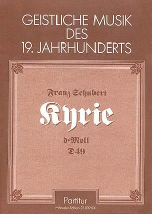 Kyrie in d-moll D49 - Franz Schubert - Partition - laflutedepan.com