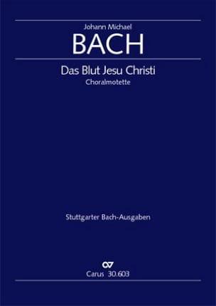 Johann Michael Bach - Das Blut Jesu Christi - Partition - di-arezzo.fr