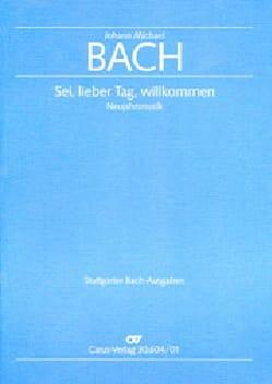 Sei, lieber Tag, willkommen - Johann Michael Bach - laflutedepan.com