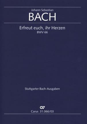 Jean-Sébastien Bach - Cantate 66 Erfreut euch, ihr Herzen - Partition - di-arezzo.fr