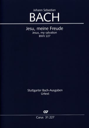 BACH - Jesu, Meine Freude BWV 227 - Sheet Music - di-arezzo.co.uk