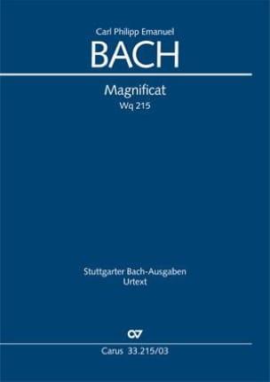 Carl-Philipp Emanuel Bach - Magnificat Wq 215 - Partition - di-arezzo.fr