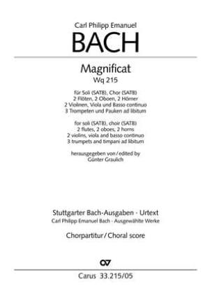 Magnificat. Wq 215. Choeur - laflutedepan.com