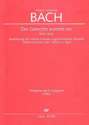 BACH - Der Gerechte kommt um - Sheet Music - di-arezzo.co.uk