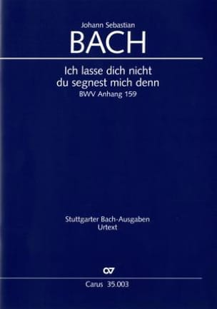 Jean-Sébastien Bach - Ich Lasse Dich Nicht Anh. 159 - Partition - di-arezzo.fr