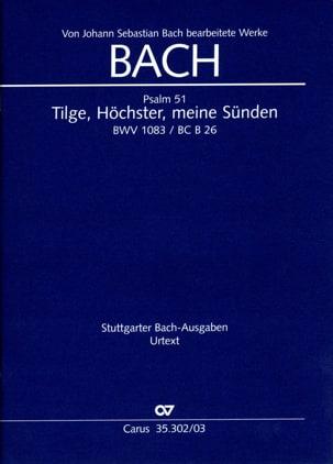 Bach Jean-Sébastien / Pergolesi Giovanni - Tilge、Höchster、MeineSündenBWV 1083 - 楽譜 - di-arezzo.jp