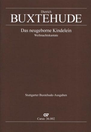 Dietrich Buxtehude - Das Neugeborne Kindelein Buxwv 13 - Partition - di-arezzo.fr