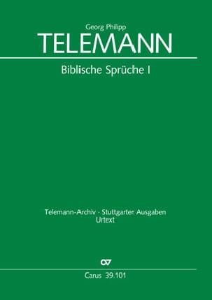 TELEMANN - Biblische Sprüche 1 - Partition - di-arezzo.co.uk