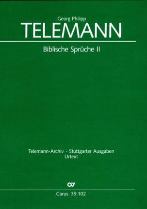 Georg Philipp Telemann - Biblische Sprüche 2 - Partition - di-arezzo.fr