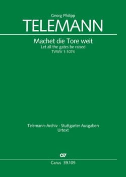 TELEMANN - Machet die Tore weit - Sheet Music - di-arezzo.co.uk