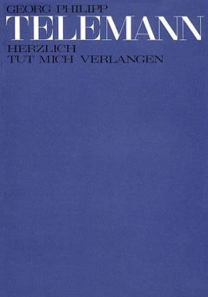 TELEMANN - Herzlich Tut Mich Verlangen. Conducteur - Partition - di-arezzo.fr