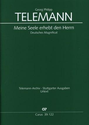 Georg Philipp Telemann - Meine Seele Erhebt Den Herrn. Magnificat - Partition - di-arezzo.fr