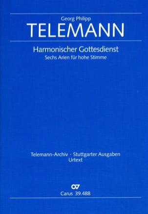 Georg Philipp Telemann - 6 Arien Aus Harmonischer Gottesdienst - Partition - di-arezzo.fr