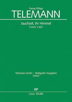 Georg Philipp Telemann - Jauchzet, Ihr Himmel Twv 1-957 - Partition - di-arezzo.fr
