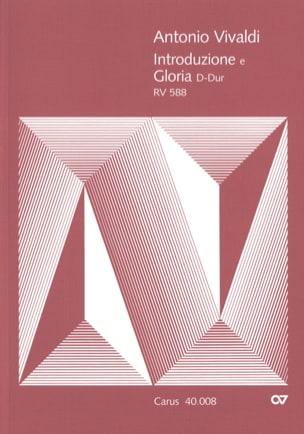 VIVALDI - Introduzione E Gloria RV 588. Conducteur - Partition - di-arezzo.fr