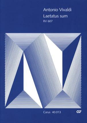 Antonio Vivaldi - Psaume 121 Laetatus Sum - RV 607 - Partition - di-arezzo.fr