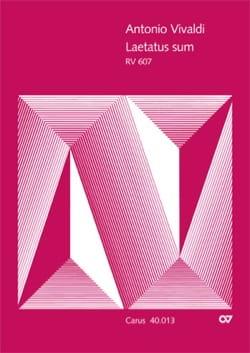 VIVALDI - Laetatus Sum RV 607. Choir alone - Partition - di-arezzo.co.uk