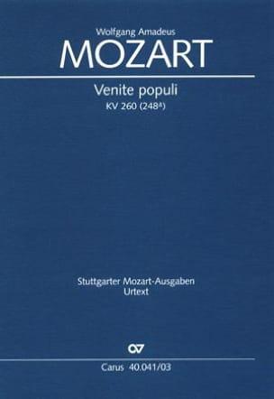 Venite Populi K 260 - MOZART - Partition - Chœur - laflutedepan.com