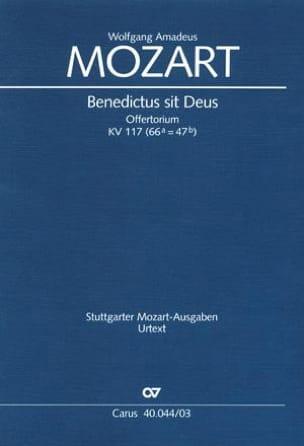 Benedictus Sit Deus K 117 MOZART Partition Chœur - laflutedepan